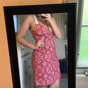 Red Patterned Dress